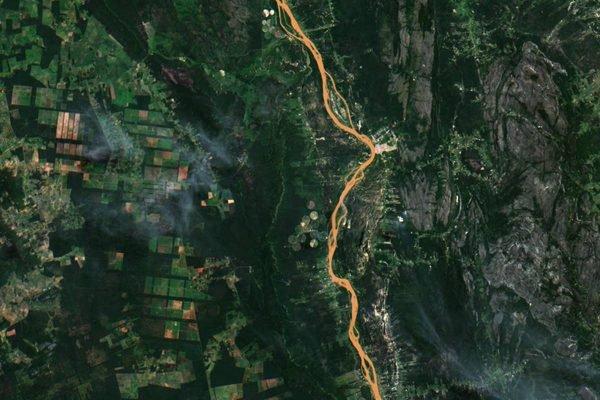 Imagem do satélite Amazonia-1, do Inpe