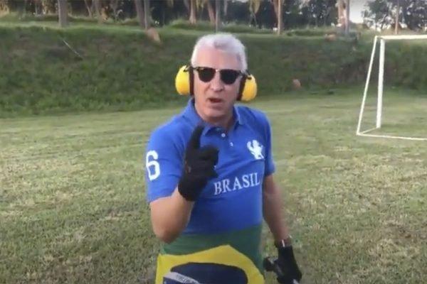Homem atira e ameaça Lula de morte em vídeo