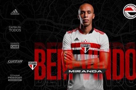 Miranda é anunciado como reforço do São Paulo