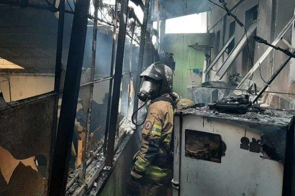 Incêndio em hotel no Núcleo Bandeirante