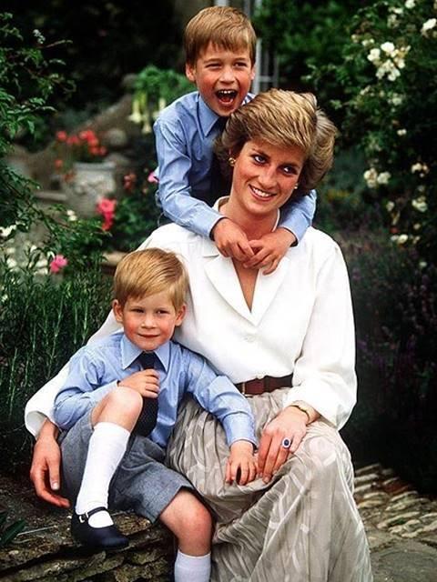 Princesa Diana e filhos