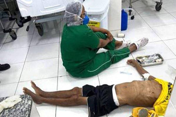 Idoso morre no chão de UPA em Teresina por falta de macas