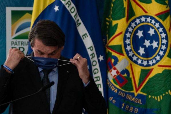 O presidente Jair Bolsonaro (sem partido), durante anúncio de investimentos para o Programa Águas Brasileiras