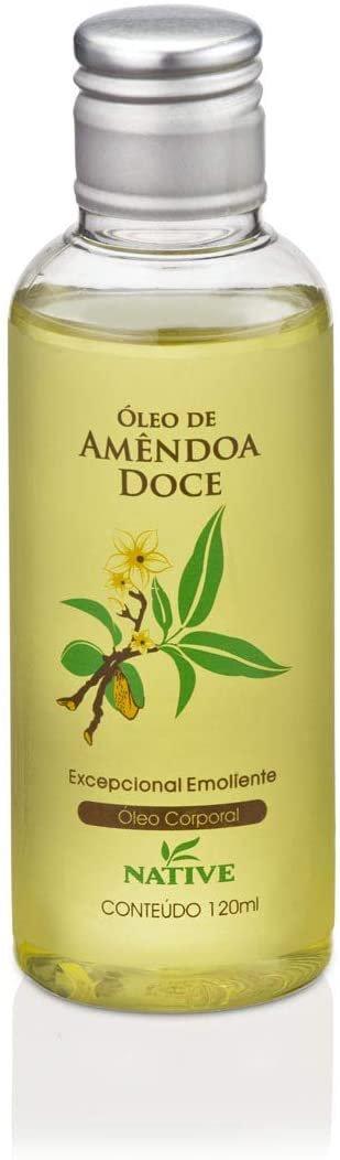 Óleo de amêndoa doce, da Native, com 120ml