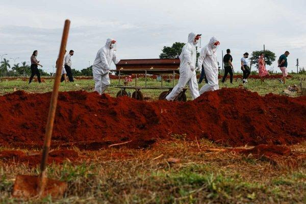Vítimas de CoViD-19 são sepultadas