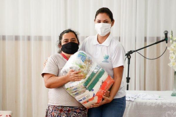 Michelle Bolsonaro em ação da Pátria Voluntária
