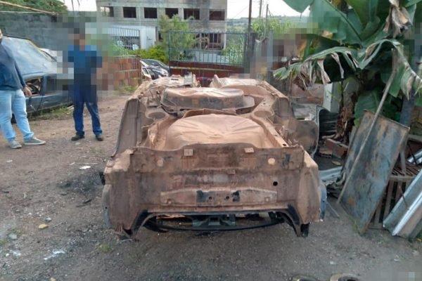 carro roubado que virou desmanche