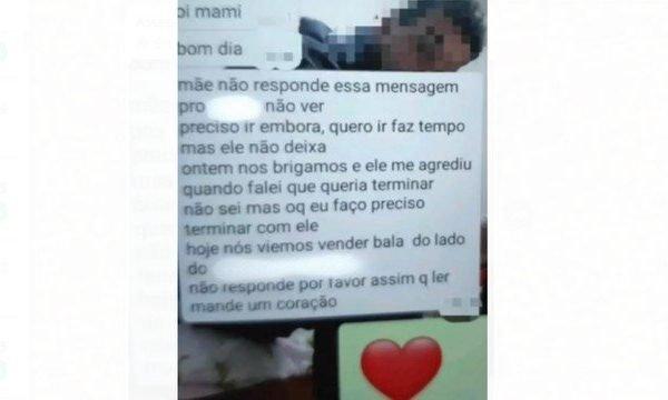 Print do pedido de socorro - Reprodução: Polícia Civil do Paraná