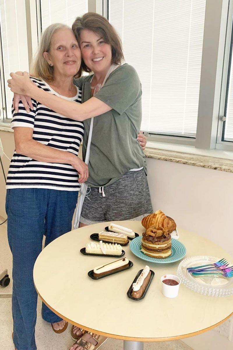 Mãe e filha, Maria da Graça Gevaerd e Ana Paula Massolin Monteiro
