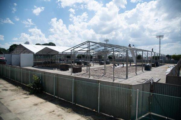 Construção de hospital de campanha