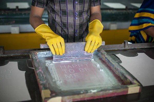 Trabalhador de fábrica têxtil