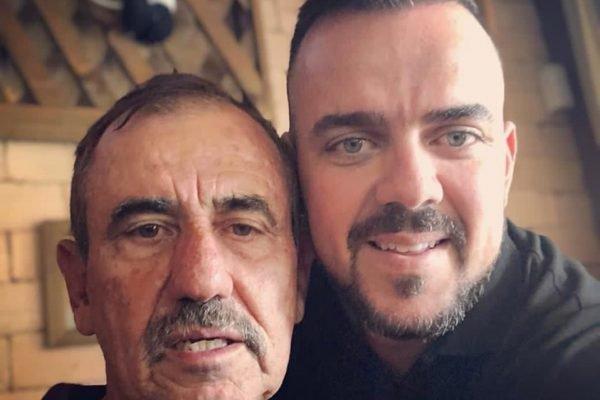 Prefeito de Aparecida de Goiânia, Gustavo Mendanha (MDB), em chamada de vídeo com o pai, Léo Mendanha, que também está com Covid