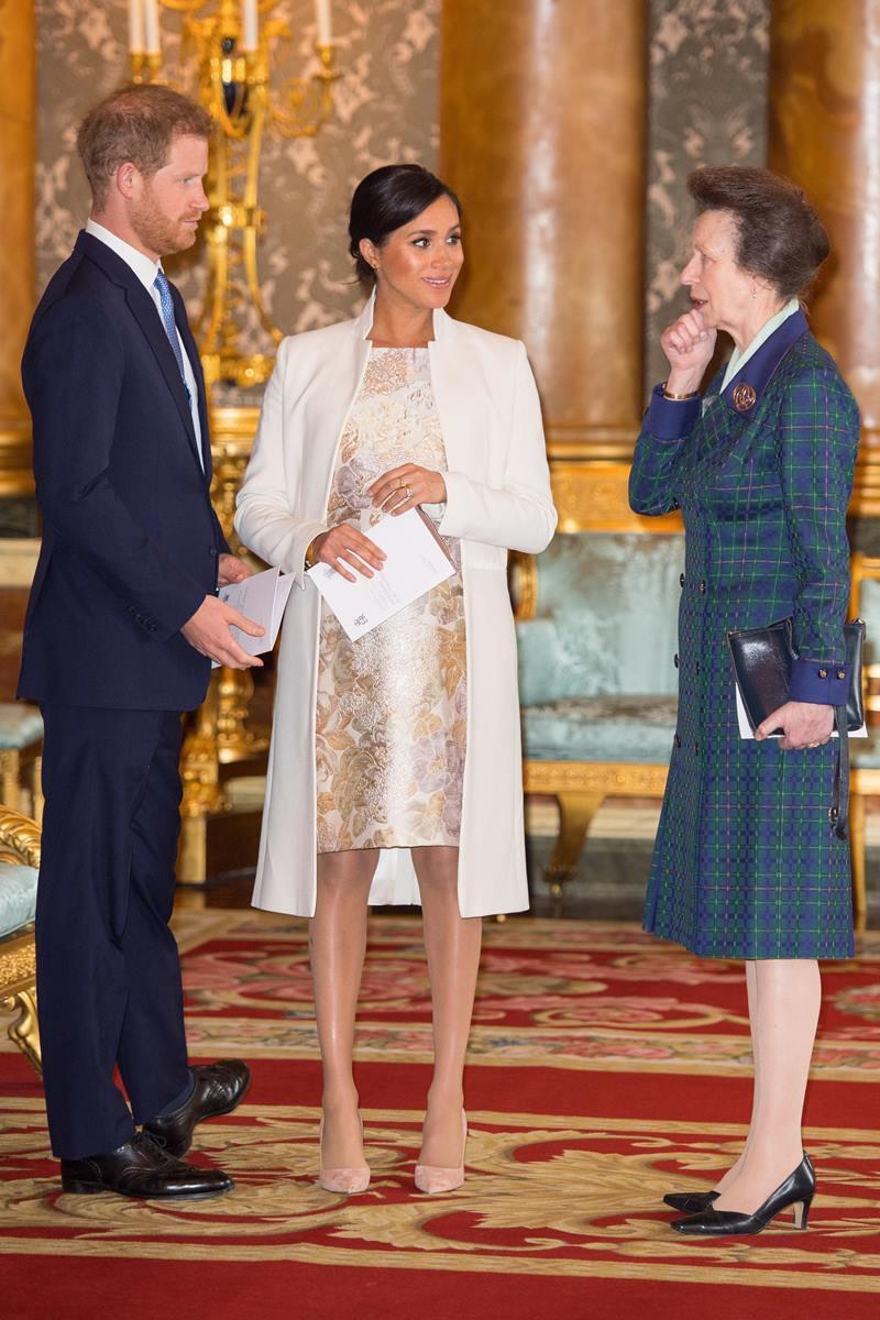 Príncipe Harry, Meghan Markle e princesa Anne