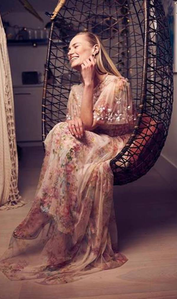 Jessica Madsen, de Needle & Thread, para o SAG Awards 2021