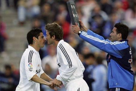 Cicinho e Beckham no Real Madrid