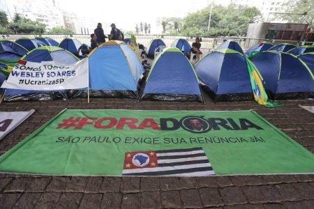 Acampamento do Ucraniza São Paulo, no vão do Masp, na capital paulista (2)