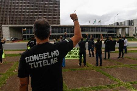 Protesto de conselheiros tutelares