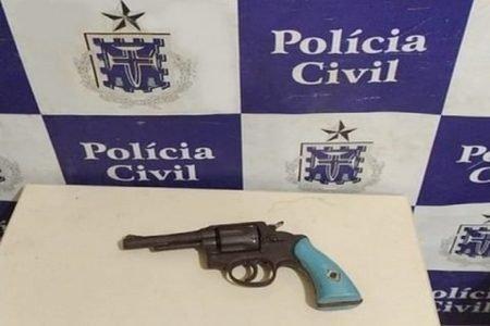 Arma apreendida na Bahia