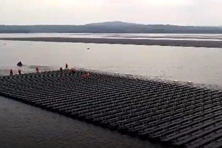 Maior usina solar sobre águas no mundo, na Tailândia