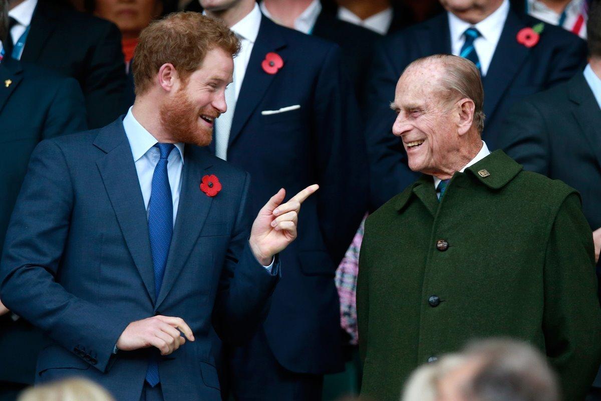 Príncipes Harry e Philip