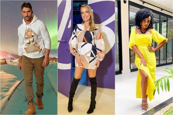 Novos apresentadores TV FAMA - Julio Rocha Alinne Prado e Ligia Mendes