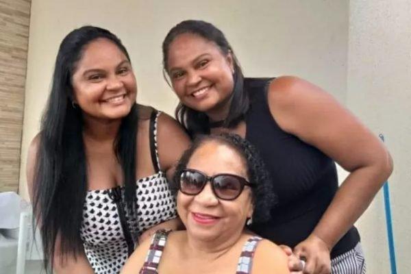 Áurea Pimentel e suas filhas gêmeas Patrícia e Alessandra Pimentel morreram de covid