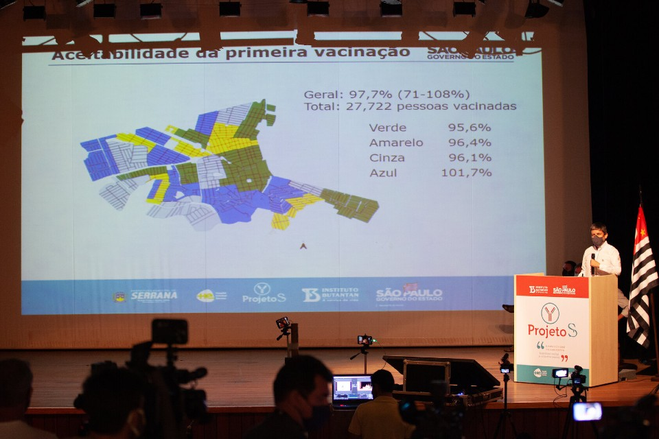 Cidade foi dividida em regiões que foram vacinadas em períodos distintos
