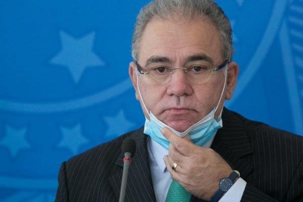 Coletiva de imprensa do comitê de combate a covid no plácio do planalto ministro marcelo queiroga