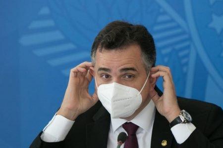 Coletiva de imprensa do comitê de combate a covid no plácio do planalto Rodrigo pacheco senado presidente