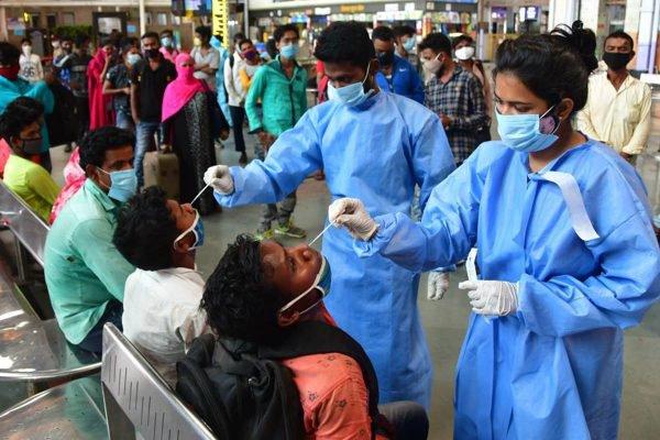 testes de covid na Índia