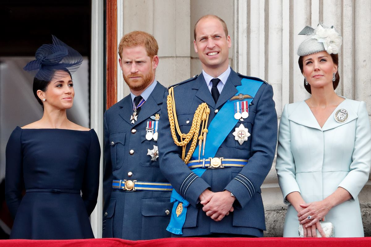 Meghan Markle, Harry, William e Kate Middleton