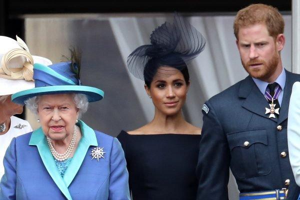 Rainha Elizabeth, Meghan Markle e príncipe Harry
