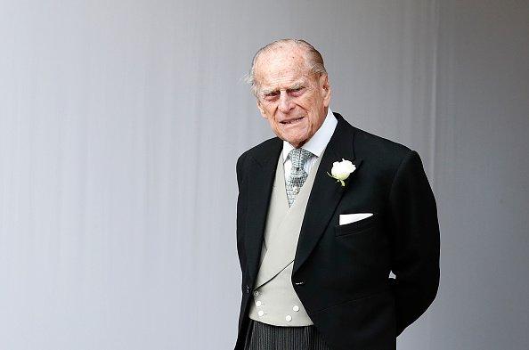 Príncipe Philip em fundo branco