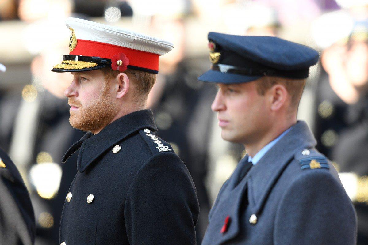 Príncipes Harry e William