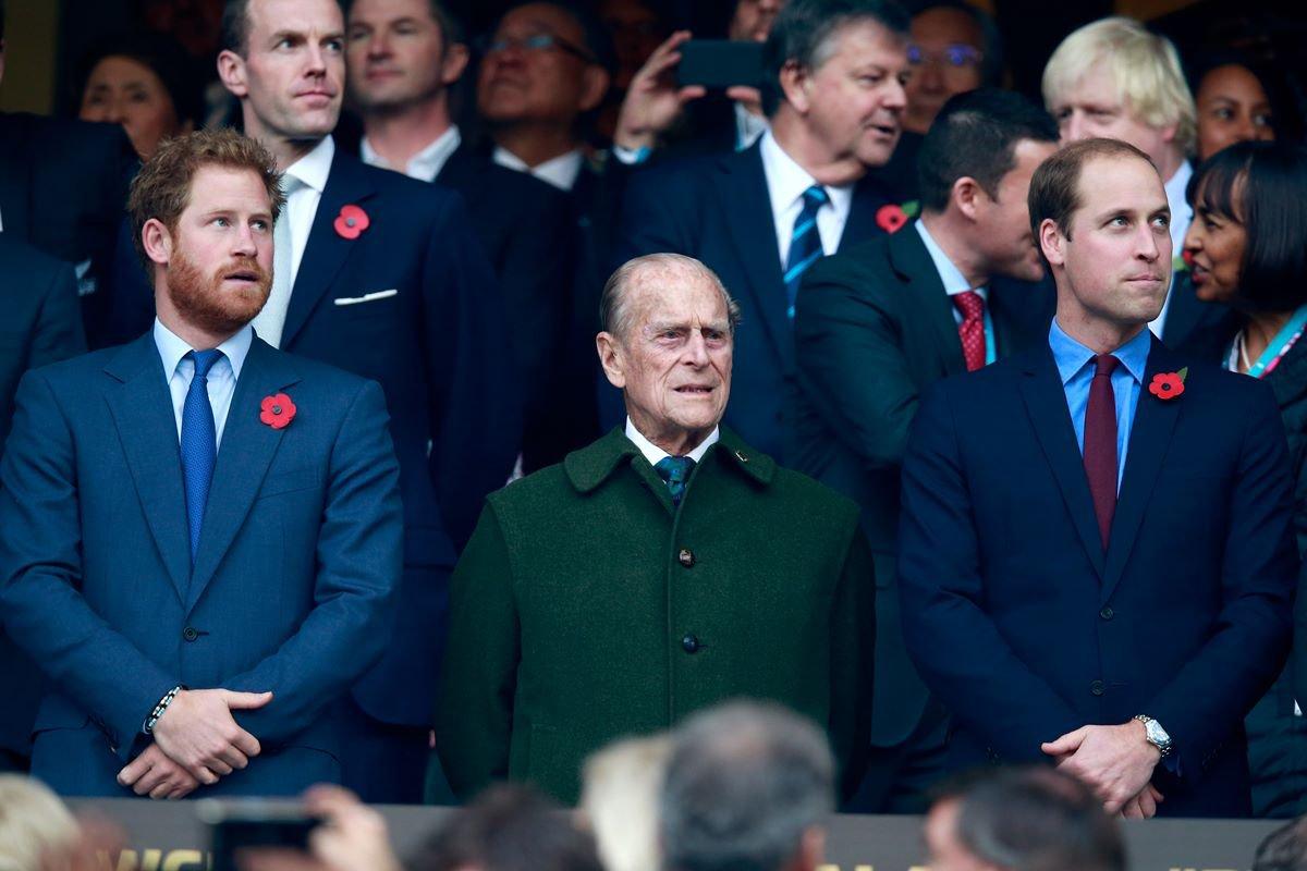 Príncipes Harry, Philip e William