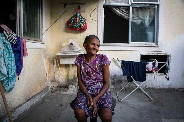 Pernambucana Sonia Silva, de 63 anos, morada do Morro da Providência, no Centro do Rio