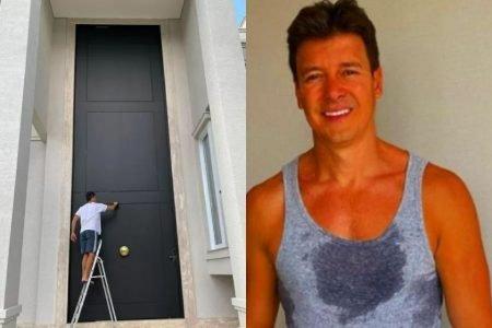 Rodrigo Faro e sua porta gigante