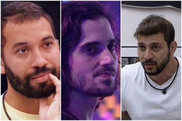 Gil, Fiuk e Caio no BBB21