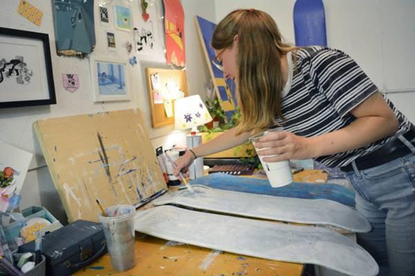 Artista em projeto da Vans