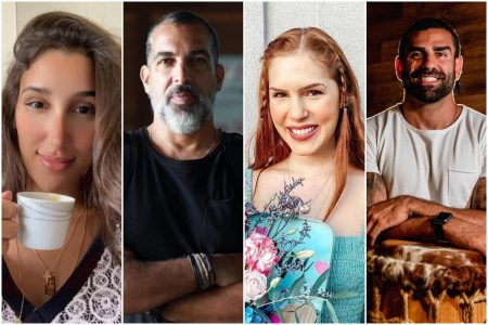 Fernanda Gonzaga, Gustavo Moreno, Julia Zardo e Jorge Salomão