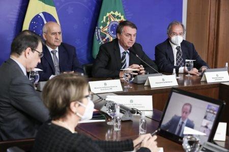 Videoconferência de Bolsonaro e ministros com Paulo Skaf, da Fiesp