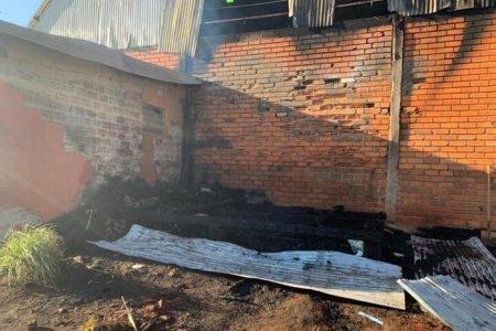 Incêndio na aldeia indígena
