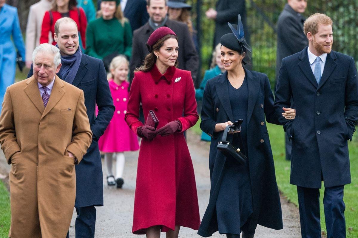 Príncipe Charles, William, Kate Middleton, Meghan Markle e Harry