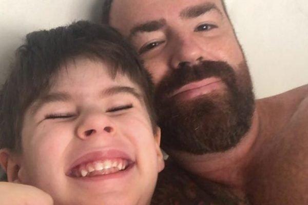 Henry Borel Medeiros com o pai, Leniel Borel de Almeida Júnior