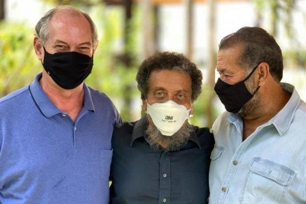 Ciro Gomes, João Santana e Carlos Lupi