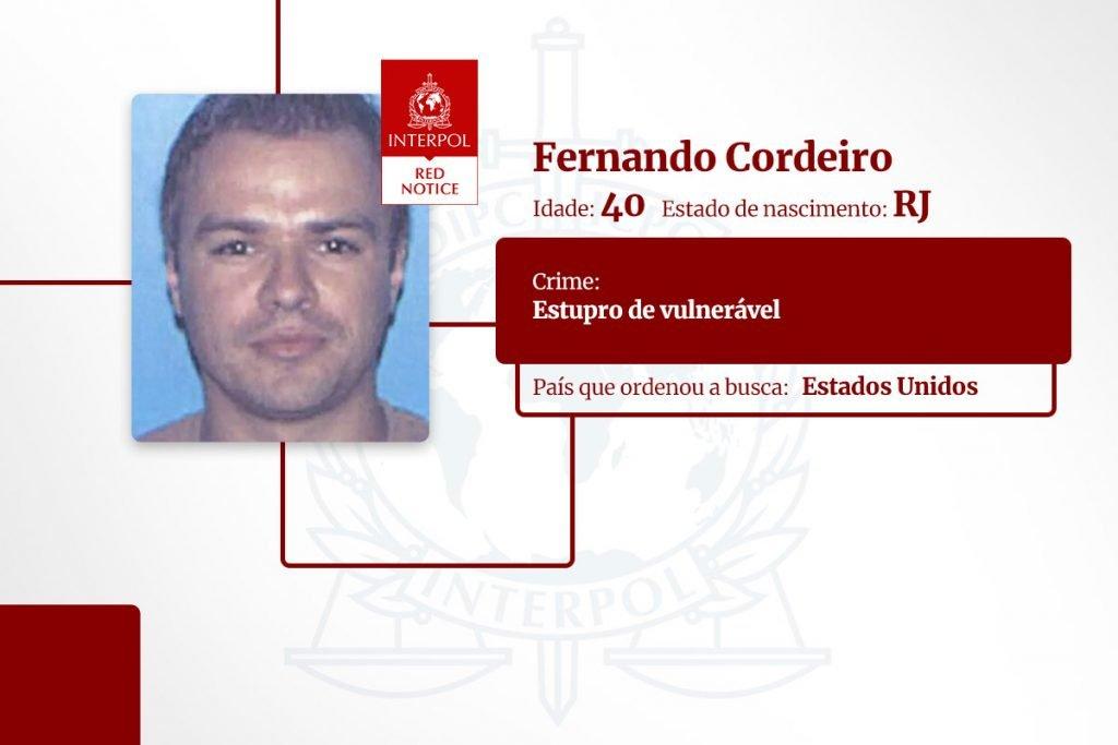 Fernando Cordeiro - brasileiros na lista pública da Interpol