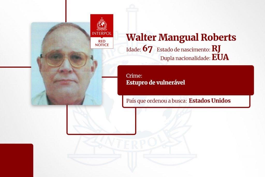 Walter Mangual Roberts - lista de brasileiros na Interpol