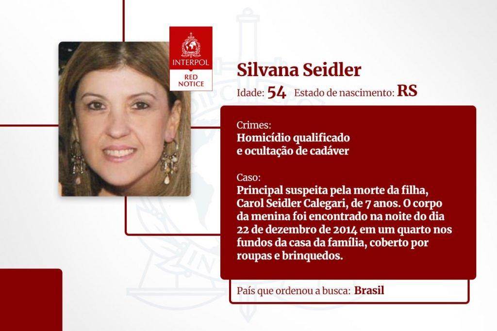 Silvana Seidler - lista de brasileiros na Interpol