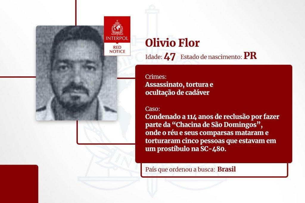 Olivio Flor - lista de brasileiros na Interpol