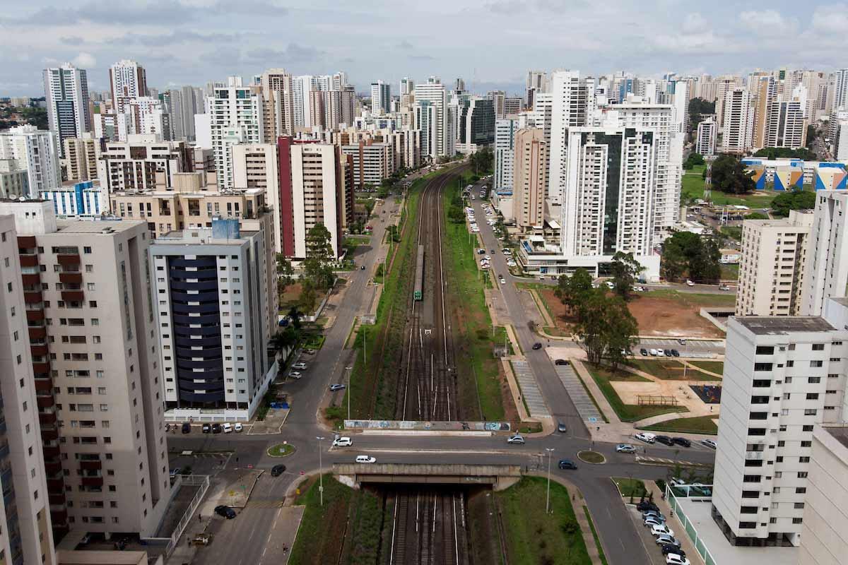 Metrô em Águas Claras